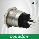 commutateur de bouton poussoir momentané en métal de commutateur de bouton poussoir de diamètre de 22mm