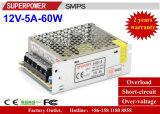 Schaltungs-Stromversorgung LED-Fahrer Gleichstrom-12V 5A 60W für Sicherheits-Überwachung