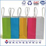 Les constructeurs Wholsale bon marché réutilisent le sac de papier d'emballage du métier 130GSM, sac de empaquetage de papier d'emballage