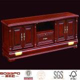 أثر قديم ماهوغانيّ صلبة خشبيّ ركب تلفزيون حامل قفص خزانة ([غسب15-007])
