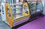 Refrigerador aberto refrigerando elevado do indicador do bolo da parte dianteira de Spped para o supermercado