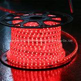 빨간색 60LEDs SMD5050 220V IP65 LED 밧줄 빛