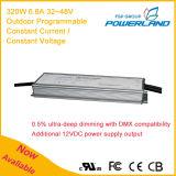 320W 6.6A 32-48V Externo Programável Corrente Constante Impermeável LED Driver