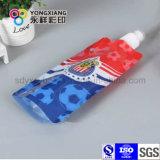 Impreso levantarse el bolso del detergente de lavadero