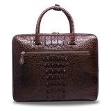Los hombres cuero auténtico maletín portátil de la cartera de los hombres de negocios de cocodrilo