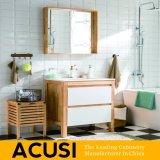 Neue erstklassige amerikanische einfache Art-festes Holz-Badezimmer-Eitelkeits-Badezimmer-Schrank-Badezimmer-Großhandelsmöbel (ACS1-W54)