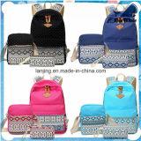 Mulheres mochila menina escola moda mochila lona sacolas de viagem