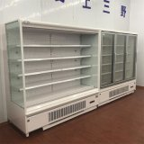 Supermarkt-kalter Getränk-Gefriermaschine-Bildschirmanzeige-Schaukasten-Kühler
