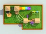 Jogos de madeira da ginástica da selva das crianças do campo de jogos a jogar fora do campo de jogos