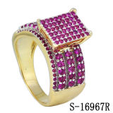 2개의 음색에 의하여 도금되는 보석 다이아몬드 반지 은 925