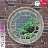 Espejo de madera redondo de la pared de Decarative