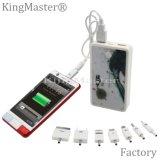 Chargeur de batterie du côté 7500mAh de pouvoir de qualité pour le mobile avec le câble