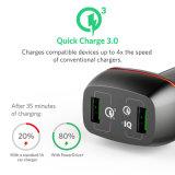 Обязанность 3.0 42W Anker быстро удваивает заряжатель автомобиля USB