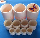 Tazza di ceramica dell'allumina resistente abrasiva a temperatura elevata
