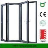 Portes Bi-Fold de profil en aluminium de matériau de construction avec le certificat de la CE