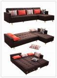 Veränderbare Armlehnen und grosses Größen-Gewebe-Sofa mit Bett