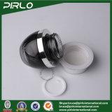 50ml Kruiken van de Room van de Container van de Kruik van de Room van het Gezicht van het glas de Kosmetische Zwarte met Aluminium GLB