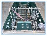 Amerika-Art-Einkaufen-Laufkatze mit bunten Körben