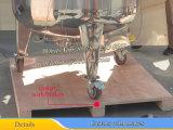 Tanque mezclador de acero inoxidable de 500 litros con ruedas