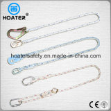 1.5-2m 100% poliester cordón de protección contra caídas con ganchos o mosquetón