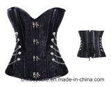 Корсет Cincher шкафута парчи Steampunk женщин готской Boned сталью