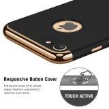 매우 얇은 호리호리한 단단한 케이스3 에서 1 iPhone 7을%s 프레임이 비 입힌 미끄러짐 광택이 없는 표면에 의하여 전기도금을 한다