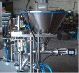 自動回転式茶粉のコップの盛り土のシール機械