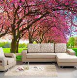 Kundenspezifische Wandtapeten-Wandschlafzimmer-Wohnzimmer-Sofa-Tapete, Pfau-Wandbild