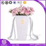 Rectángulo de empaquetado de encargo de lujo de la flor del regalo de Rose del papel de imprenta de la insignia