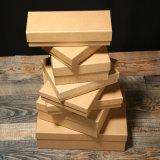 Rectángulos de empaquetado de encargo del papel de Kraft del color de Brown al por mayor