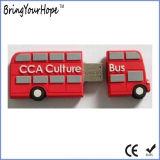 2D Резиновый привод памяти USB формы шины конструкции (XH-USB-119)