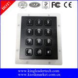 Teclado preto opcional de 12 chaves do conetor com o luminoso para o acesso da porta