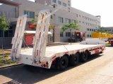 3販売のための車軸13m長さ60tonsのGooseneckのLowboyの低いベッドかトレーラー