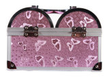 Rosafarbener Basisrecheneinheits-Muster-einzelner geöffneter Aluminiumverfassungs-Kasten mit Spiegel