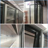 Puerta de vidrio comercial vertical Congeladores de la exhibición de alimentos congelados para el supermercado