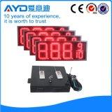 Hidly 12 인치 빨간 Afrika LED 가스 표시