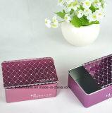 Kundenspezifischer rechteckiger Süßigkeit-Zinn-Kasten mit dem Schieben der Kappe