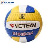 Wholeslae la muestra libre de goma de tamaño estándar 5 vejiga de PVC al aire libre del arco iris de voleibol