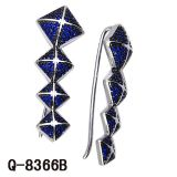 Nuovo argento degli orecchini 925 dei monili di modo di disegno