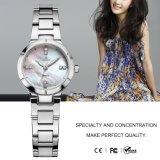 Quartz occasionnel résistant Wristwatch71089 de mode de qualité de dames de montre d'acier inoxydable de l'eau