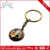 Schlüsselhalter-Andenken mit Glasraupe und Foto