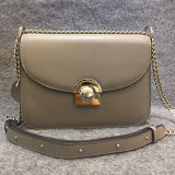 Borse di piccola dimensione del progettista del cuoio genuino del sacchetto di spalla di modo con la catena Emg4565