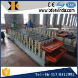 Roulis de panneau de mur de Double couche de l'acier 800-840 de couleur de Kxd formant la machine