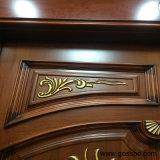 Porte d'entrée principale extérieure de luxe en bois de porte de gravure (XS1-020)