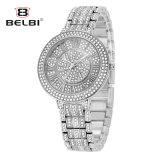 Horloge van het Kwarts van de Reeks van de Ster van de Gesp van de Juwelen van het Roestvrij staal van de Legering van de Manier van het Horloge van Belbi het Edele