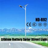 12Vリチウム電池の30~120W LEDライトが付いている太陽街灯