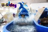 Diversão Marine Partrol Shark Water Mini Flume Rides