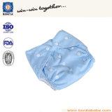 Pañal lavable 100% del bebé del paño de algodón con el botón