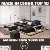 Modernes L-förmiges Schnittsofa gesetztes Glas Freizeit-Sofa