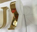 Eletroplating de Geplateerde Gouden van het Titanium van de Brief van het Alfabet Brief van het leiden- Teken